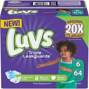 Luvs Triple Leakguards Diapers Size 6, 64 ct.