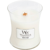White Teak Medium Hourglass Candle