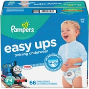 Pampers Boys Easy Ups Training Underwear Size 3T-4T (30-40 lb.) 66 ct.