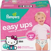 Pampers Girls Easy Ups Training Underwear Size 3T-4T (30-10 lb.) 66 ct.