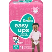 Pampers Girls Easy Ups Training Underwear Size 4T-5T (37+ lb.) 56 ct.