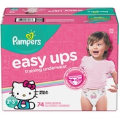 Pampers Girls Easy Ups Training Underwear Size 2T-3T (16-34 lb.) 74 ct.