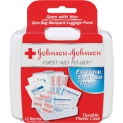 Johnson & Johnson Red Cross First Aid To Go! First Aid Travel Kit, 12 Pc.