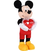 Disney Valentine Greeter Mickey with Heart Pillow