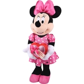 Disney Valentine Greeter-Minnie in Pink Outfit with Heart