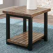 Scott Living Rustic Planked Top End Table
