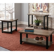 Scott Living Rustic Planked Top Sofa Table