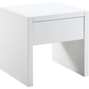 Scott Living Contemporary End Table with High Gloss Finish