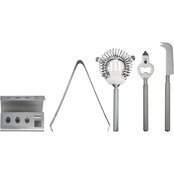 BarCraft 4 Pc. Cocktail Tool Set with Stand
