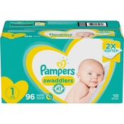 Pampers Swaddlers Diapers Super Pack Size 1 (8-14 lb.) 96 ct.