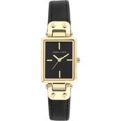 Anne Klein Women's Goldtone and Leather Strap Watch AK/3204BKBK