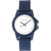 Anne Klein Women's Silicone Strap Watch AK/3206WTBK