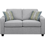 Scott Living Brownswood Transitional Loveseat with Track Arms