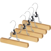 Whitmor Natural Wood Collection Trouser Hanger 5 pk.