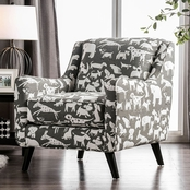 Furniture of America Patricia Chair with Dogs