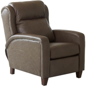 Klaussner Mason Power High Leg Leather Recliner with Power Headrest