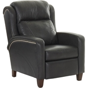 Klaussner Mason Power High Leg Leather Recliner with Power Headrest and Lumbar