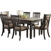 Signature Design by Ashley Tyler Creek 7 Pc. Dining Room Table and Chair Set