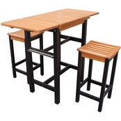 Northbeam Kitchen Island Table and Two Stool Set