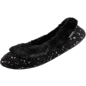 Isotoner Sequin Sweater Knit Ballerina Slippers