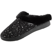 Isotoner Sequin Sweater Knit Hoodback Slippers