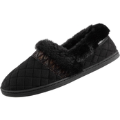Isotoner Quilted Microsuede Closed Back Slippers