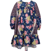 Bonnie Jean Little Girls Boho Floral Mixed Print Dress