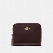 COACH Small Zip Around Wallet in Patent Leather