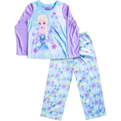 Disney infant Girls Frozen Elsa and Olaf Pastel 2 pc. Pajama Set