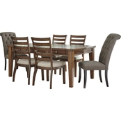 Signature Design by Ashley Flynnter 7 pc. Dining Set with Gray Host Chairs