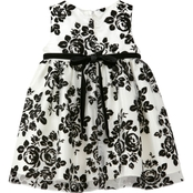 Princess Faith Infant Girls Flocked Dress