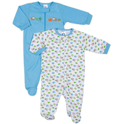 Gerber Infant Boys Zip Front Sleep N Play Outfits 2 Pk., 6-9 months