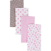 Gerber Flannel Burp Cloth/Diaper 4 pk.