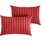 Mozaic Sunbrella Harwood Crimson Knife Edge Pillow 2 pk.