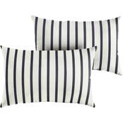 Mozaic Sunbrella Lido Indigo Knife Edge Pillow 2 pk.