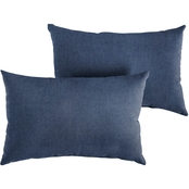 Mozaic Sunbrella Spectrum Indigo Knife Edge Pillow 2 pk.