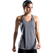 PBX Pro Heathered Lead Keyhole Tank Top
