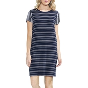 Vince Camuto Mixed Stripe Tee Dress