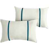 Mozaic Co. Sunbrella Canvas 12 x 24 in. Dual Flange Pillow 2 pk.