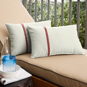 Mozaic Co. Sunbrella Canvas 12 x 24 in. Small Flange Pillow 2 pk.
