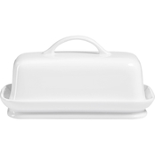 Martha Stewart Collection Whiteware Butter Dish