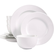 Martha Stewart Collection Whiteware 12 pc. Dinnerware Set