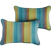 Sunbrella Astoria with Corded Pillows, Set of 2
