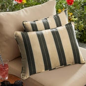 Sunbrella Berenson Tuxedo Corded Pillows, Set of 2