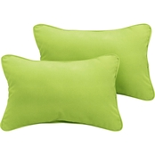 Sunbrella Canvas Corded Pillows, Set of 2