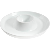 Gibson Home 12 in. Chip & Dip Serving Bowl