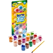 Crayola 18 Classic and Bold Color Washable Paint Pots and Brush Set