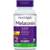 Natrol Melatonin Fast Dissolve Tablets Strawberry 5mg 90 Ct.