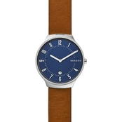 Skagen Men's Grenen Leather Watch 38mm
