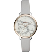 Fossil Women's Jacqueline Three Hand Leather Watch